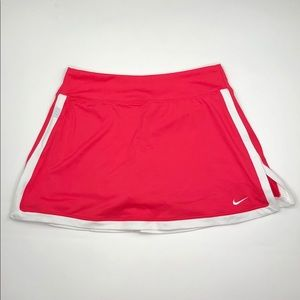 Nike Dri Fit Pink and White Tennis Skirt SZ S